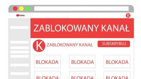blokada kanału youtube